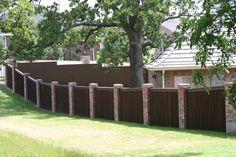 stone fence images | BRICK FENCE PILLARS - THE FENCE