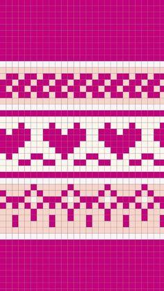 Knitting Help, Knitting Charts, Knitting Stitches, Fuse Bead Patterns, Cross Stitch Patterns, Knitted Stuffed Animals, Fair Isle Chart, Graph Paper Art, Fair Isle Knitting Patterns