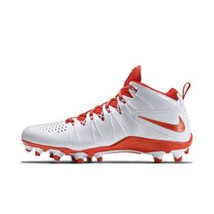 caebfa43f Nike Huarache 4 LX Men s Lacrosse Cleat Size 12.5 (White) - Clearance Sale