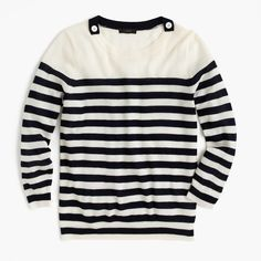 J.Crew 'Tippi' striped sweater with shoulder buttons. Click for more info