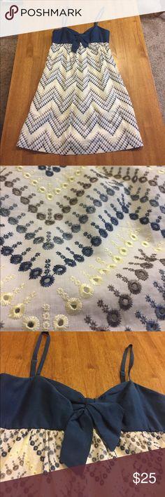 Babydoll Dress Gently worn eyelet lace babydoll dress. No stains or pilling. Super cute! BCBGMaxAzria Dresses Mini