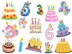 Extens recull de imatges i dibuixos sobre aniversaris.
