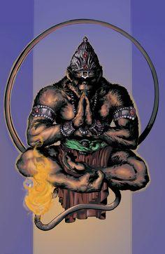 Image inspired by a Hindu God, Hanuman. Hanuman Tattoo, Moños Tattoo, Ram Hanuman, Gorilla Tattoo, Lord Hanuman Wallpapers, Terra Nova, Hanuman Images, Monkey Tattoos, Tattoo Ideas