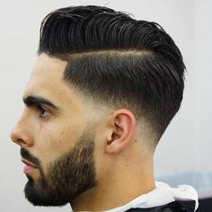 Low Temp Fade with Hard Part Comb Over