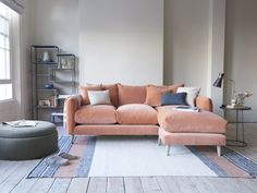 Squishmeister chaise sofa in Old Rose vintage velvet Furniture, Sofa Design, Chaise Sofa, Comfy Sofa, L Shaped Sofa, Sofa Deals, Sofa Seats, Chaise, Loaf Sofa