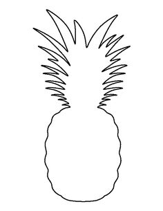 Pineapple pattern. Use the printable outline for crafts, creating stencils, scrapbooking, and more. Free PDF template to download and print at http://patternuniverse.com/download/pineapple-pattern/
