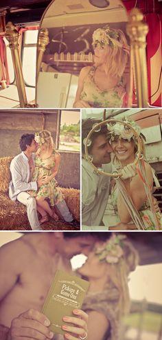 Perfect Bohemian Wedding, Engagement Shoot, Vintage
