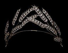 Diamond wheatears tiara. XIXth century.