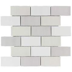 Elida Ceramica Handcrafted Blend Brick Mosaic Ceramic Subway Tile (Common: x Actual: x Ceramic Mosaic Tile, Ceramic Subway Tile, Mosaic Wall Tiles, Subway Tile Backsplash, Glazed Ceramic, Mosaic Glass, Kitchen Backsplash, Kitchen Countertops, Kitchen Cabinets