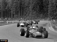 Formel 1 1967, Belgien GP, Spa-Francorchamps, Mike Parkes, Ferrari, Bild: Sutton