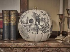 DIY Network shows you how to give a plain pumpkin a vintage look using an old school image transfer method.
