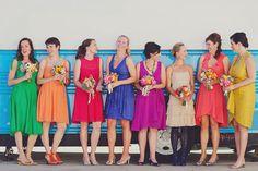 Contemporary Retro Brights V's Vintage Pastel Rainbow #Wedding Ideas #Bridesmaids