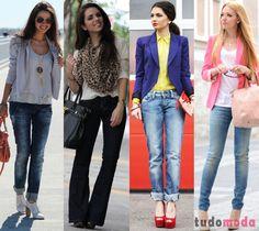 looks para o trabalho com calça jeans - Pesquisa Google