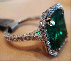 Emerald Ring Emerald Engagement Ring Diamond Halo Emerald Ring May… I Love Jewelry, Jewelry Rings, Jewelry Accessories, Fine Jewelry, Druzy Jewelry, Gemstone Bracelets, Opal Gemstone, Jewelry Art, Gold Jewelry