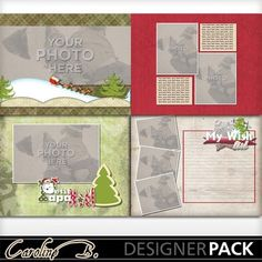 Digital Scrapbooking Kits | Happy Noel 8x11 Album 1-(carolnb) | Boys, Family, Girls, Holidays - Christmas, Kid Fun, Love | MyMemories