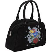Kansas Jayhawks Women's Canvas Satchel - Black