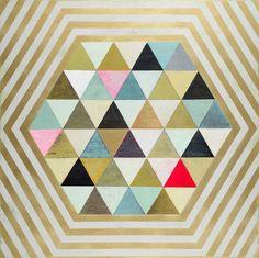 Colorful and fun Flirt pattern in 12x12 Hardwood tiles #MirthStudio
