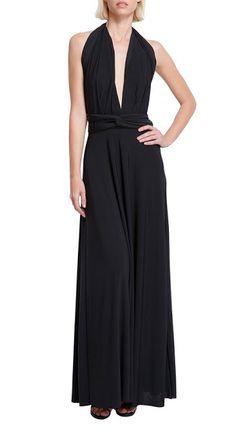 Vonvonni Women's Transformer Long Dress (Black)  #TransformerDress