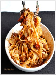 Mushroom Bolognese - YUM!!!! No meat in this hearty Bolognese.