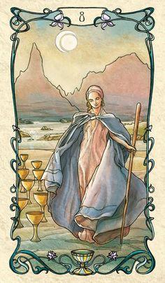 Eight of Cups - Tarot Mucha