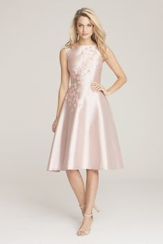 Pink tea length Mother-of-the-Bride dress by Teri Jon