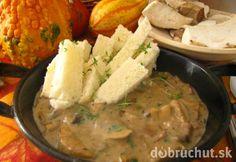 Fotorecept: Hríbová omáčka Russian Recipes, Rice, Meat, Chicken, Ethnic Recipes, Food, Polish, Vitreous Enamel, Essen