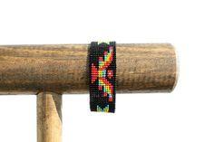 Black Eagle Motif Seed Bead Bracelet by RuralHaze on Etsy, $14.95