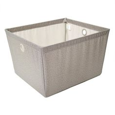 Large Twill Wire Bin at Lowe's Canada. Find our selection of storage bins & baskets at the lowest price guaranteed with price match. Fabric Storage Bins, Fabric Bins, Tool Storage, Laundry Supplies, Framed Fabric, Wire Frame, Tool Organization, Wash Bags