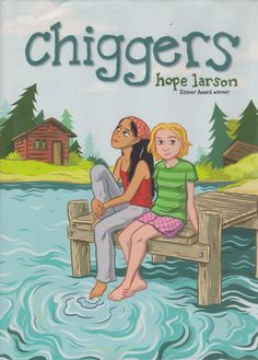 """#WomensHistoryMonth#WomensHistoryMonth Chiggers ( http://ift.tt/2ogwoCK ) Chiggers (released June 18 2008 under the Atheneum Books Ginee Seo imprint) is a graphic novel by Hope Larson about """"nerdy teenaged girls"""" who meet at summer camp. Chiggers is intended for a 9- to 12-year-old audience. Kirkus Review wrote of the work """"The clean black-and-white panels are detailed without being busy and the addition of a supernatural element symbolic of the physical and emotional upheaval of adolescence…"""
