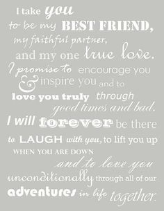 vows example