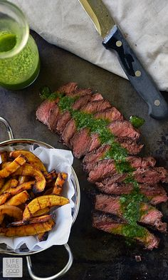 Pan-Seared Steak with Chimichurri sauce | by Life Tastes Good is an ...