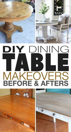 For just a few dollars, you can update your dining table with paint or stain and fabric in just a weekend, for a whole new decorating look! #diningtablemakeovers #diydiningtablemakeovers #diydiningtables #diyhomedecor #diyhomedecorideas #makeoveradiningtable #TBD