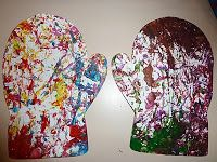 easy & fun Marble Paint Mittens