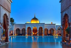 Pool Palace at Palais Namaskar, #Marrakech