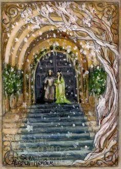 Арвен и Арагорн в Гондоре