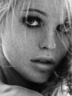 Freckles, love them on other people, learning to embrace them on myself.