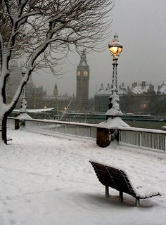 #BigBen in the snow #London