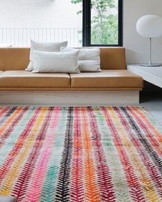 they call this the old yarn rug, but it's pretty fresh looking to me, from loom rugs.