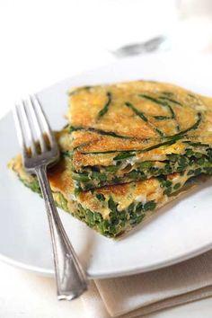 Tortilla di asparagini selvatici - Il Cavoletto di Bruxelles