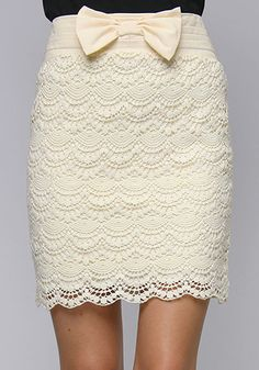 Lace and bow skirt!