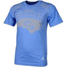 Nike North Carolina Tar Heels (UNC) March Madness Aerographic Premium T-Shirt - Carolina Blue