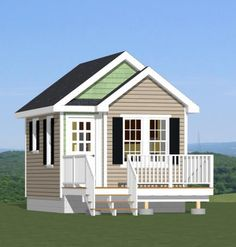 14x28 tiny house 14x28h3a 391 sq ft excellent