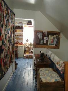 The upstairs landing, looking towards the back of the house.