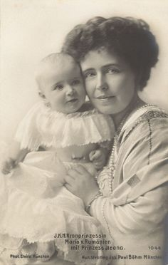 Queen Marie of Romania with her daughter Princess Ileana