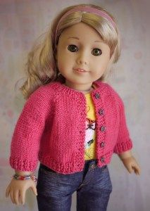 Free American Girl Cardigan Pattern I wrote this pattern for someone who already knows how to knit, but needs extra help reading the pattern. Let me know what you think and enjoy! PDF download. Be sure to view her doll sweaters for inspiration.
