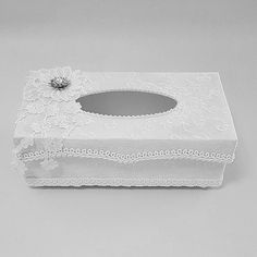 Handmade Tissue Box  Tissue Box Cover  Happy by Chiclaceandpearls