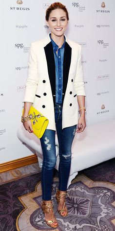 Olivia Palermo in Old Navy, AG Jeans  Whistles from #InStyle