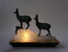 Art Deco Table Lamp Sculpture For Sale at Art Deco Table Lamps, Sculptures For Sale, Deer, Marble, Lion Sculpture, Statue, Home Decor, Art Deco, Marbles