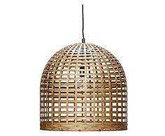 San Giorgio Mykonos: Hängeleuchte Benjamin, H 45 cm Bamboo Pendant Light, Bamboo Light, Bamboo Art, Deco Luminaire, Luminaire Design, Rattan, Designers Guild, San Giorgio Mykonos, Wicker Lamp Shade