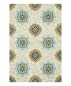 Look what I found on #zulily! Ivory Taylor Wool Rug #zulilyfinds